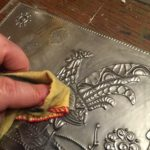 2015 02 04 Tangles on Pewter and a Rooster Stencil11